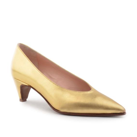Zapatos De Mujer Cuero Dorado Turin - Ferraro -