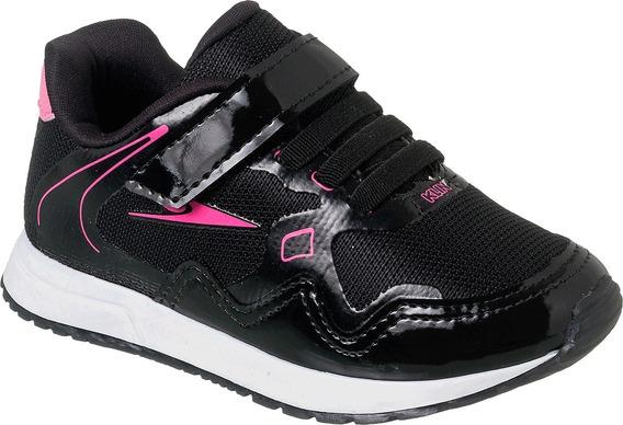 Tênis Menina Klin Baby Walk Preto/pink