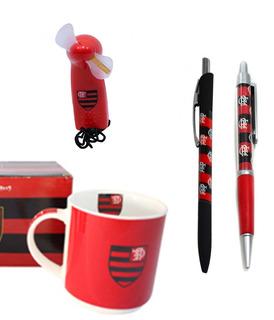 Pais Flamego Kit Caneca Mini Ventilador Caneta Oficial