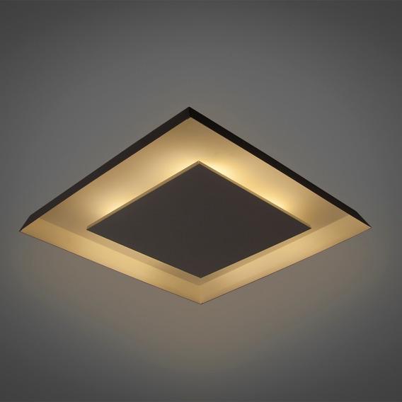 Lustre Sobrepor Iluminação Decorativa Luz Indireta 35x35cm