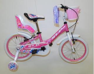 Bicicleta Slp Nena Dolphin Rod 16 Paseo Canasto Princesas