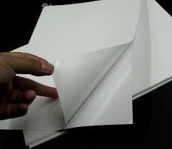 Jato De Tinta Poliéster Branco Adesivo 100µ 216x279 Cx 1000