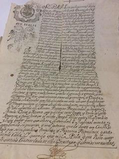 Documento Antiguo Querétaro Convento San Francisco