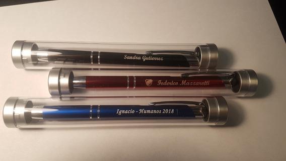 Boligrafo Grabado Laser Metalico Personalizado