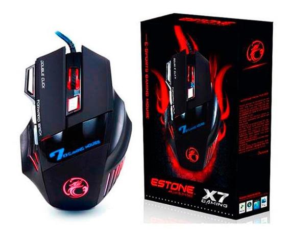 Mouse Gamer Óptico 3200 Dpi Pc Profissional Usb Precisão X7