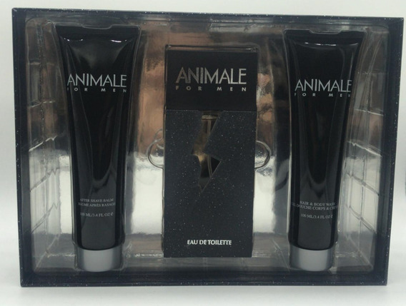 Kit Perfume Animale Pós Barba & Gel Cabelo E Corpo 100ml