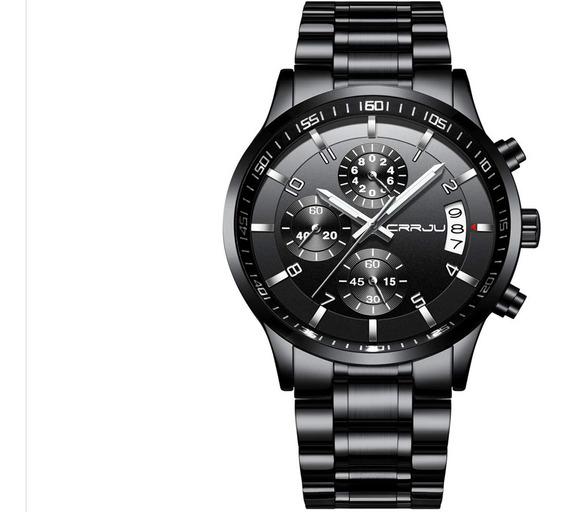 Modern Gentleman Waterproof Business Black Reloj Para Hombre