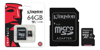 Tarjeta Memoria Kingston Sd Micro Sd 64gb C10 Titan Belgrano