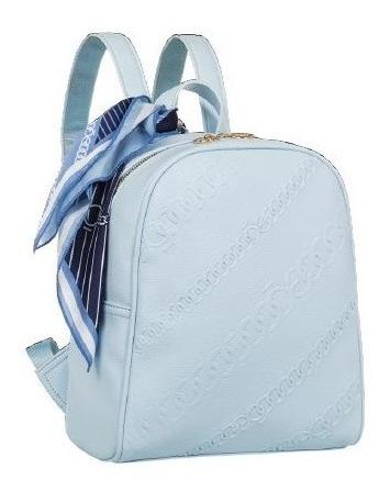 Backpack Cloe Mascada Incluida Color Celeste Primavera 2020