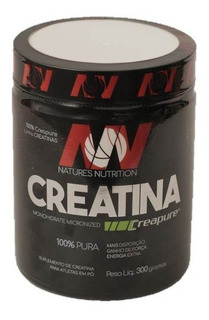 Creatina Natures Nutrition 300g Creapure 100 Doses