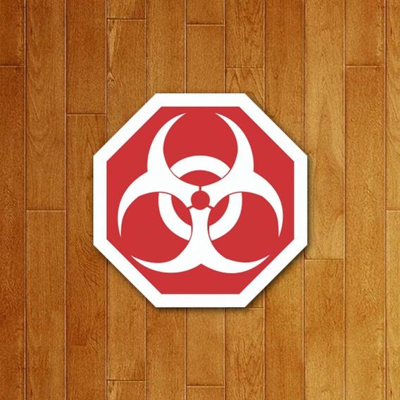 Placa Decorativa - Biohazard Risco Biológico
