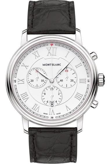 Montblanc Tradition Chronograph Acero & Blanco 42m Diego Vez