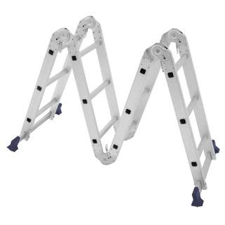 Escada Multifuncional 4x3 12 Degraus Alumínio Mor