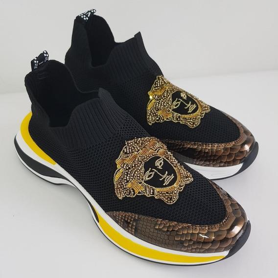 Sneaker Versace Estilo Cobra 43 Eur / 41 Br Pronta Entrega