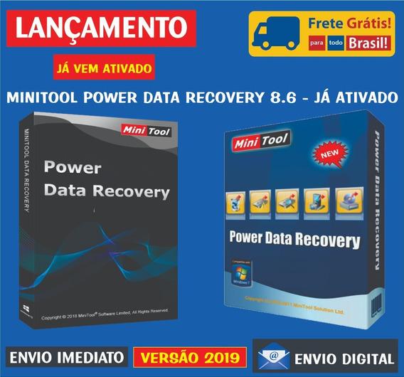 Minitool Power Data Recovery 8.6 / Já Ativado, Envio Digital
