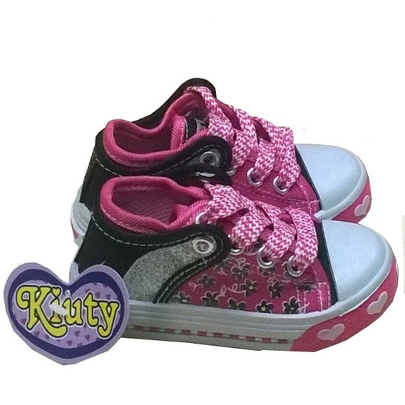 Zapatos Deportivos Kiuty Fucsia Negro Tipo Convers S12