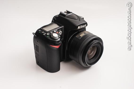 Câmera Dsrl Nikon D90 + Lente 35mm F1.8g