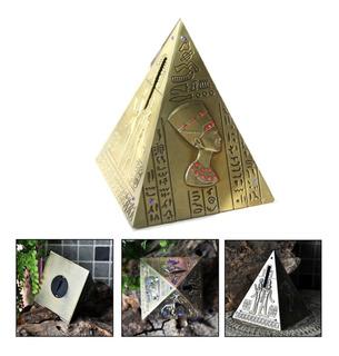 Alcancia Vintage Piramide Egipcia Decoracion Lujo