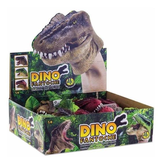 Bonecos Dino Fantoche - Display Com 12 Unidades Dtc