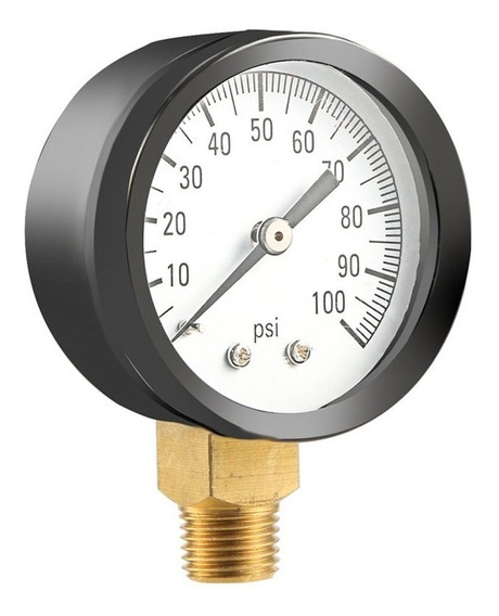 """Nuevo 0-100psi 0-7bar Calibrador De Presión Base Entrada NPT Instrumento Manómetro Dial 1//4/"""""""