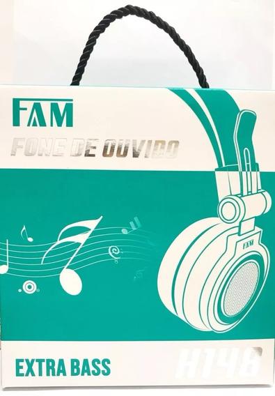 Fone De Ouvido Fam P2 Extra Bass Microfone