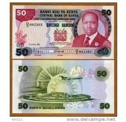 Quênia 50 Shillings 1988 P. 22e Fe Cédula - Tchequito
