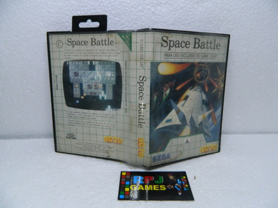 Space Battle Original C/ Caixa E Manual Game Gear - Loja Rj