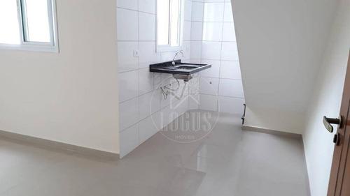 Imagem 1 de 14 de Cobertura Com 2 Dormitórios À Venda, 90 M² Por R$ 350.000,00 - Vila Pires - Santo André/sp - Co0020