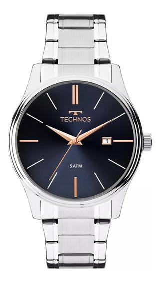 Relógio Masculino Technos Prateado Militar 2115mpm/1k