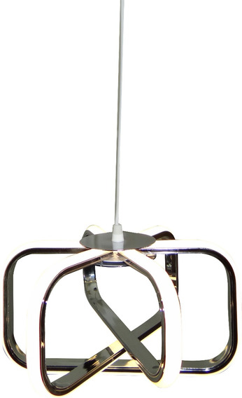 Lustre Pendente Neon Branco Neutro 27cm De Diametro Promoção