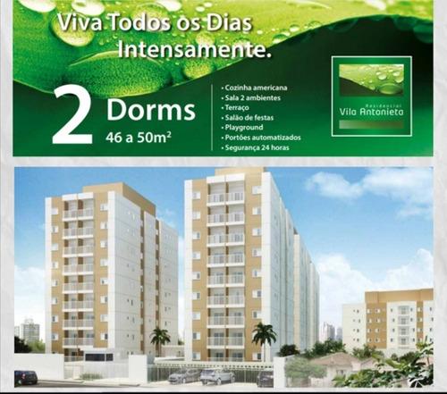 More Na Vila Antonieta.  Apartamento Pronto Com 50 Mts