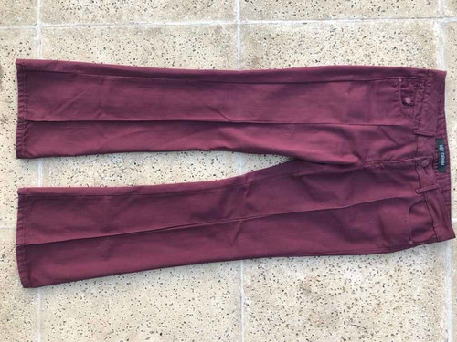 Pantalon Jean Kosiuko Talle 31 Bordeaux