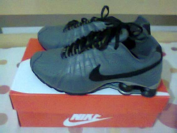 Tenis Nike Shox Junior Cinza E Preto Nº37 Original Na Caixa