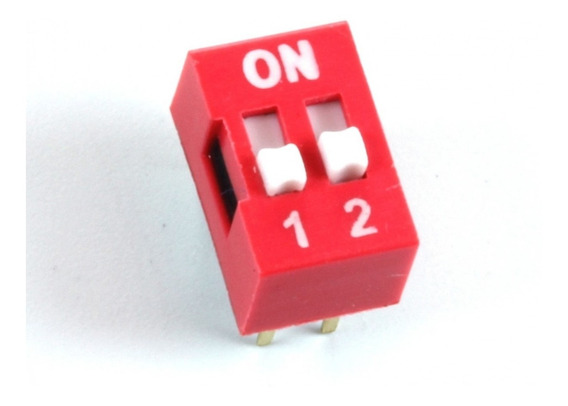 Dip Switch 2 Posiciones Doble Switch Electronica Arduino