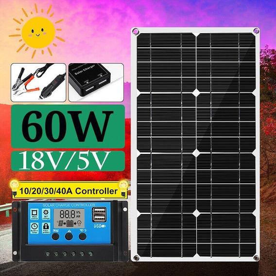 Placa Solar 60 W Semi Flexível
