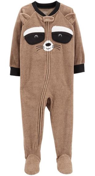 Pijamas Micropolar Carters Con Pie Antideslizante Varon Nene