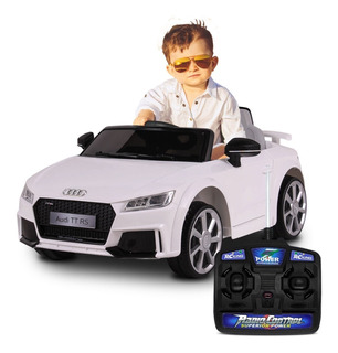 Carrinho Elétrico Infantil Audi Tt Rs Branco Com Controle