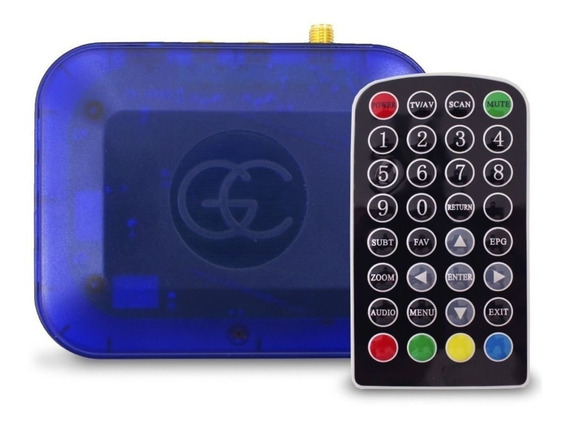 Receptor Antena Tv Digital Automotivo Gc Controle Remoto