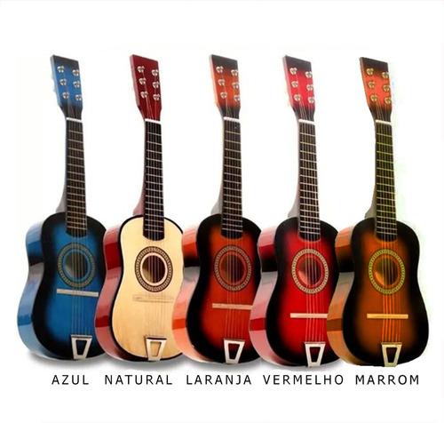 Imagem 1 de 8 de Mini Violão Madeira Infantil Acustico Luxo - Promoção