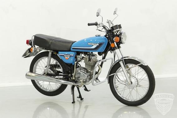 Honda Cg 125 1981 81 - Original - Antiga - Bolinha - Azul