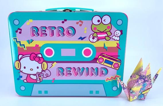 Lonchera De Metal Hello Kitty Sanrio Retro Rewind