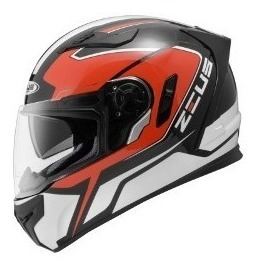 Capacete Zeus 813 An 6 Solid Black/red Tam. 58 M