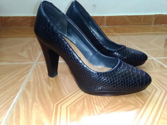 Zapatillas Flexi Mod 33603 Tacon 9 Cm Piel Color Negro #23