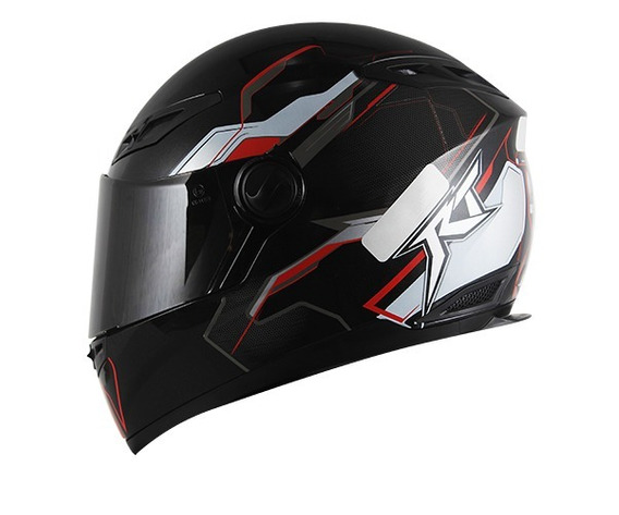 Capacete Race Tech Rt501 Grand Prix Racer Black Red