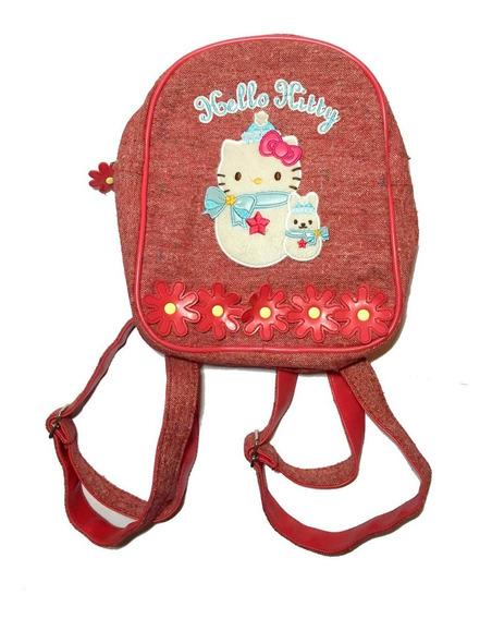 Mochila Escolar Hello Kitty Infantil Floral Volta Aulas Kids