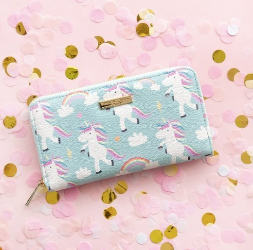 Billetera Unicornio Simil Cuero Estampada 20x11,5cm Mochi