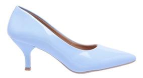 Sapato Scarpins Feminino Verniz Salto Baixo Fino 5 Cm