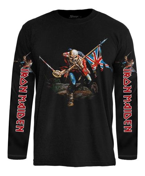 Camiseta Manga Longa Iron Maiden Eddie Long007
