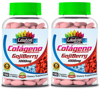 2 Colágeno Hidrolisado Goji Berry 1000mg 180 Tab Lauton