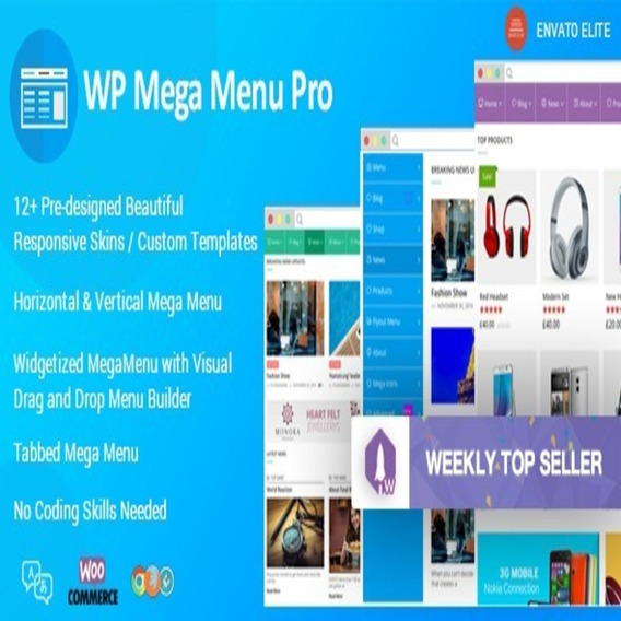 Wp Mega Menu Pro - Responsive Mega Menu Plugin Wordpress